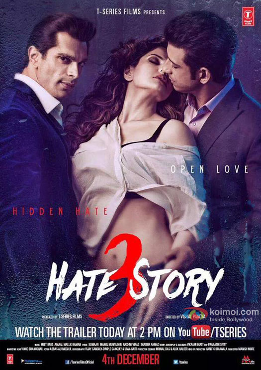 Hate Story 3 Movie Poster 2