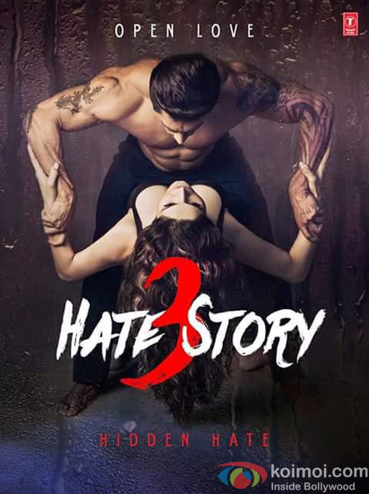 Karan Singh Grover and  Zarine Khan in a still from 'Hate Story 3' movie poster