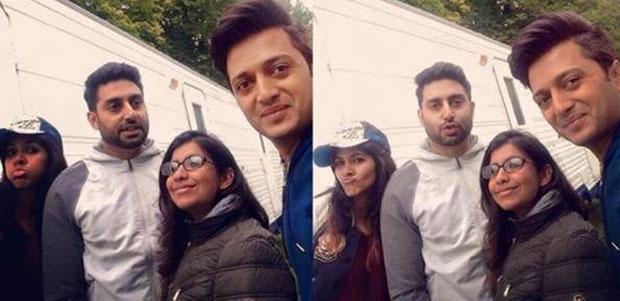 Abhishek Bachchan and Ritesh Deshmukh on the sets of housefull 3