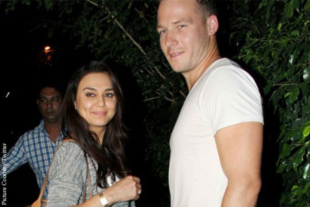 Preity Zinta and David Miller