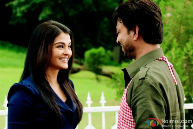 Aishwarya Rai Bachchan and Irrfan Khan in a still from 'Jazbaa'