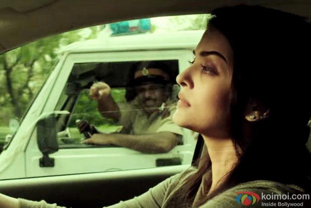 Aishwarya Rai Bachchan in a still from 'Jazbaa'