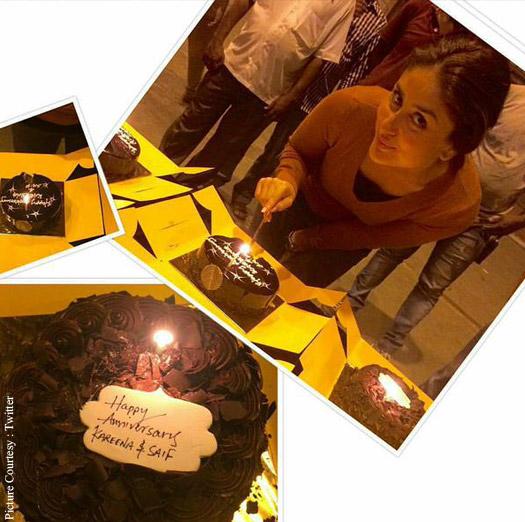 Kareena Kapoor Khan Cuts Her Third Wedding Anniversary Cake Without Saif