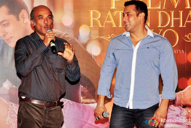 Sooraj Barjatya and Salman Khan