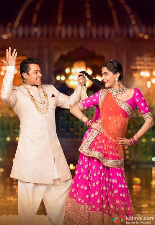 Salman Khan and Sonam Kapoor in 'Prem Ratan Dhan Payo' Movie Stills