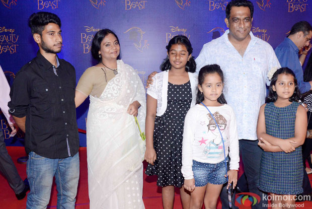 Anurag Basu, Tani Basu, Ishana Basu and Ahana Basu at the premier of Disney India's stage musical 'Beauty and the Beast'