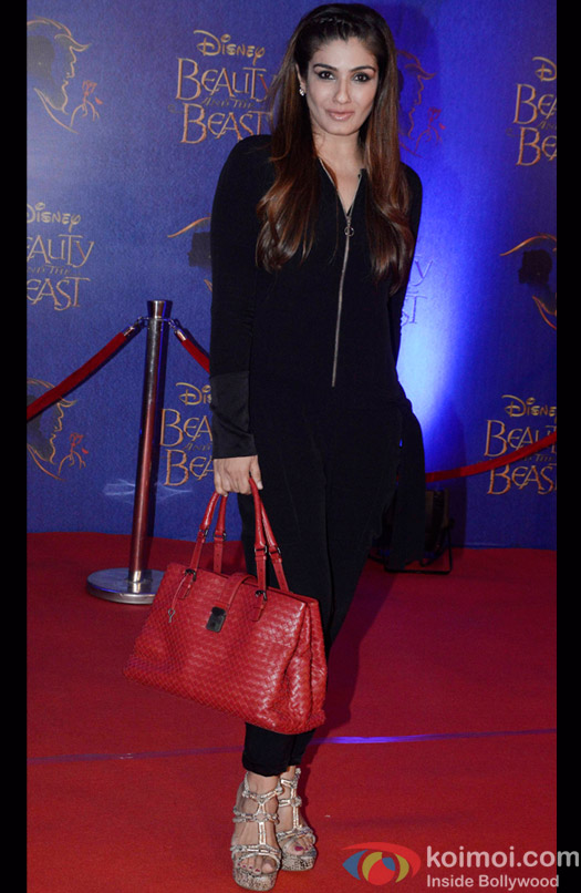 Raveena Tondon at the premier of Disney India's stage musical 'Beauty and the Beast'