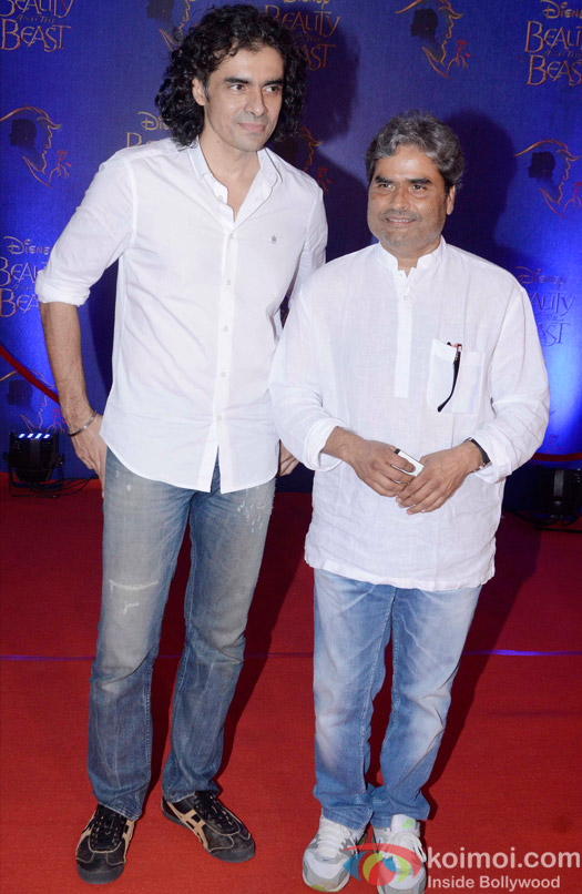 Imtiaz Ali and Vishal Bhardwaj at the premier of Disney India's stage musical 'Beauty and the Beast'