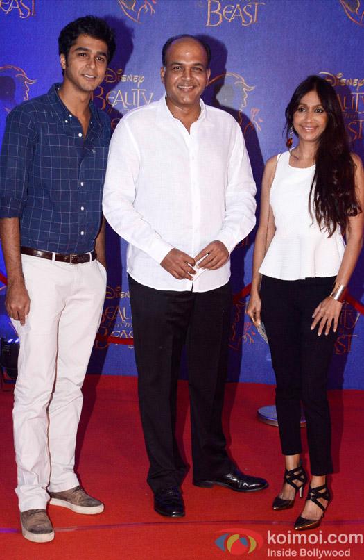 Ashutosh Gowariker, Konark Gowariker and Vishwang Gowariker at the premier of Disney India's stage musical 'Beauty and the Beast'