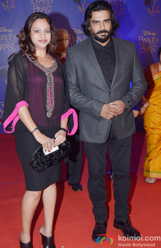 R. Madhavan and Sarita Birje at the premier of Disney India's stage musical 'Beauty and the Beast'