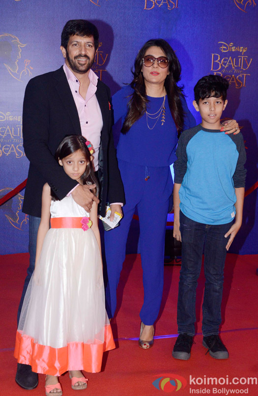 Kabir Khan,  Mini Mathur, vivaan khan and sanya khan at the premier of Disney India's stage musical 'Beauty and the Beast'