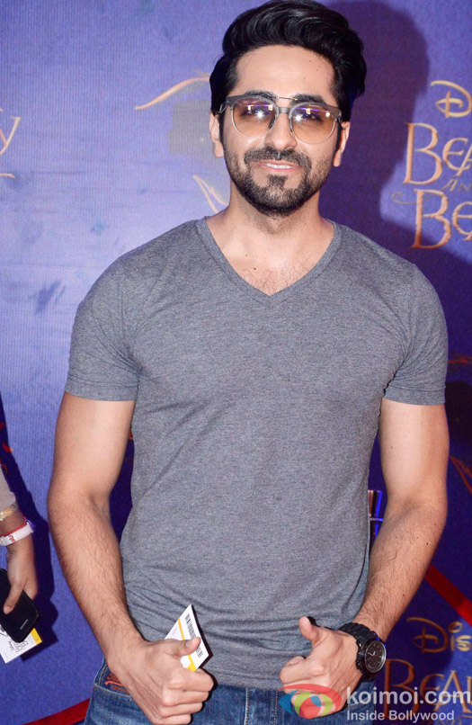 Ayushmann Khurrana at the premier of Disney India's stage musical 'Beauty and the Beast'