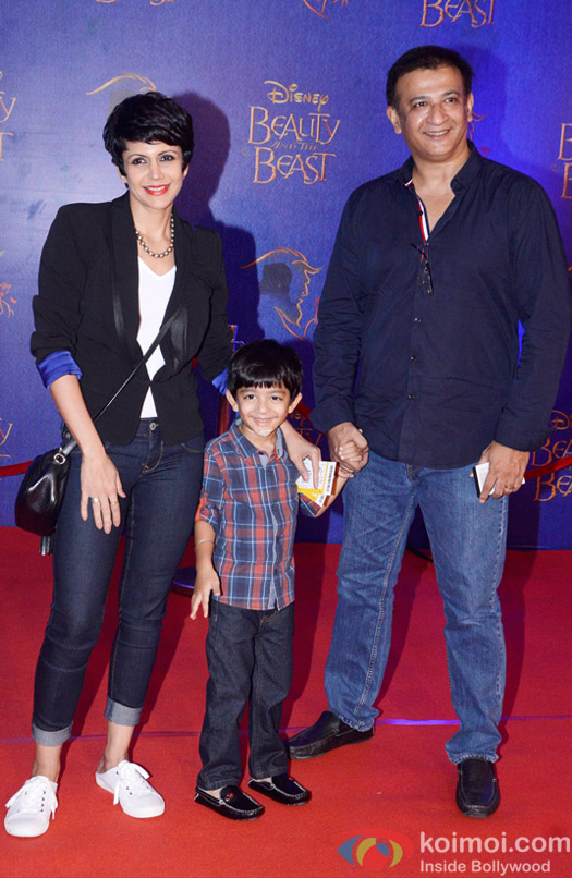 Mandira Bedi, Raj Kaushal and Vir at the premier of Disney India's stage musical 'Beauty and the Beast'
