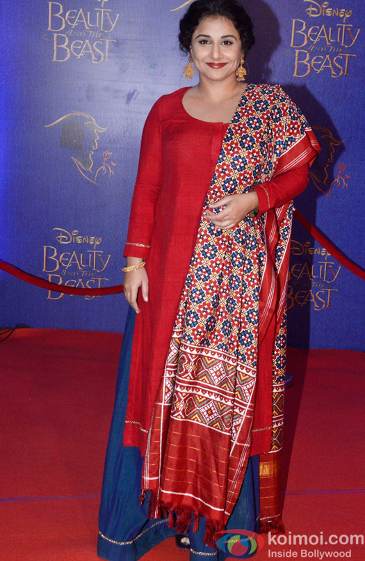 Vidya Balan at the premier of Disney India's stage musical 'Beauty and the Beast'
