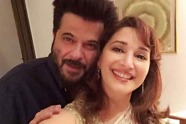 Anil Kapoor and Madhuri Dixit At Subhash Ghai's House