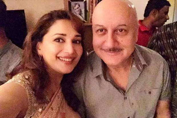 Madhuri Dixit and Anupam Kher At Subhash Ghai's House
