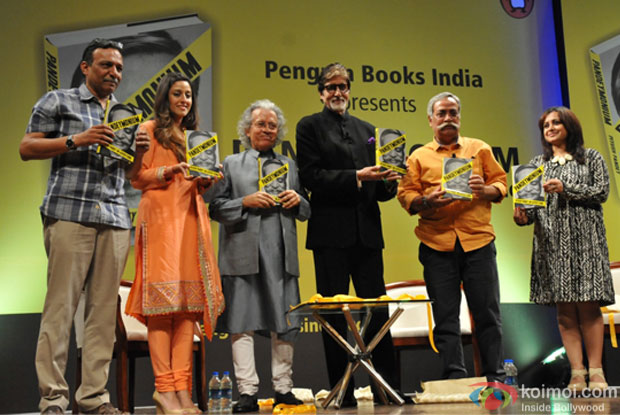 Amitabh Bachchan and Piyush Pandey during the book launch
