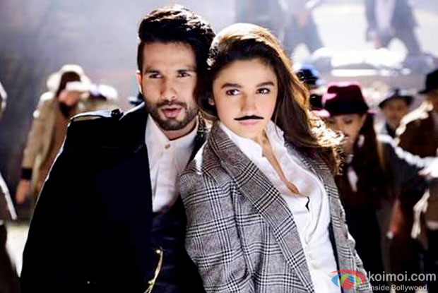 Shahid Kapoor and Alia Bhatt in a still from 'Shaandaar'