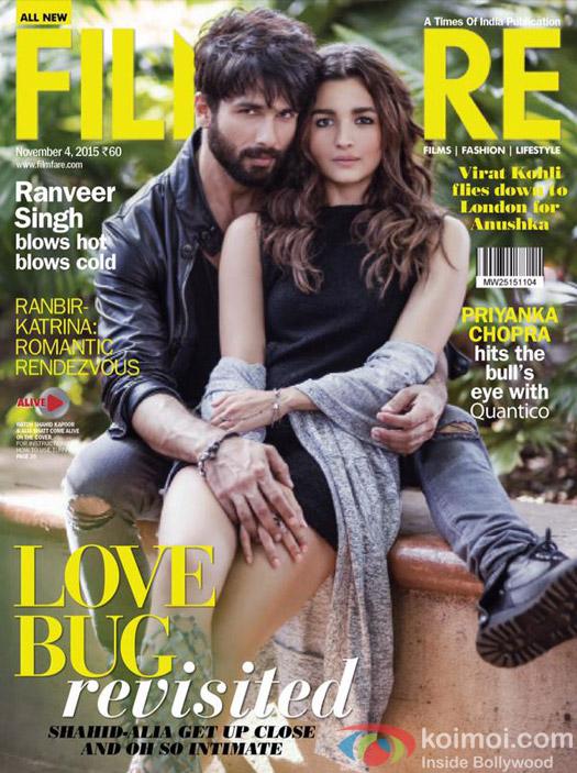 'Shaandaar' Pair Shahid Kapoor and Alia Bhatt Make On The Filmfare Cover