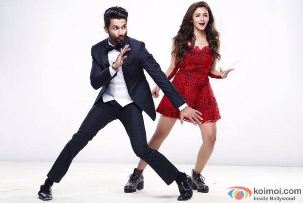 Shahid Kapoor and Alia Bhatt in a still from movie 'Shaandaar'