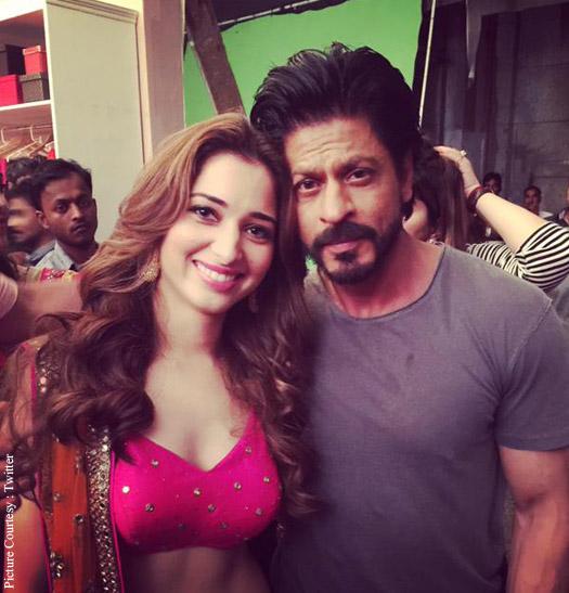 Tamannaah Bhatia and Shah Rukh Khan