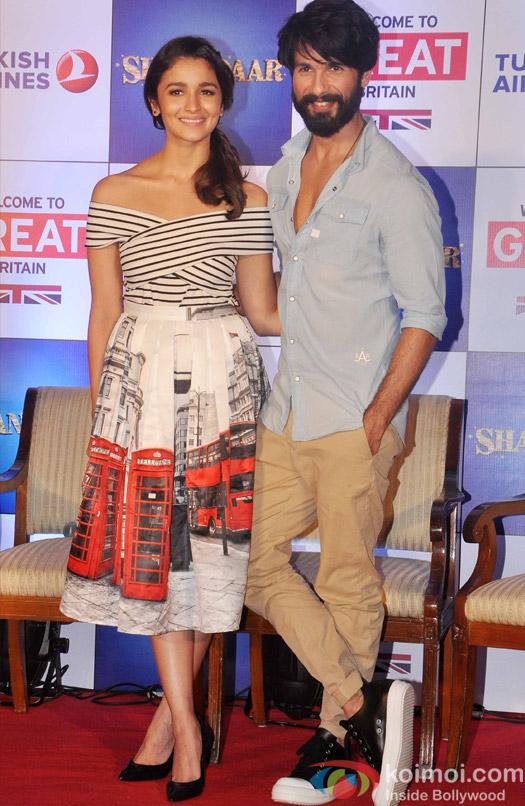Shahid Kapoor during the promotion of British tourism romantic Britain