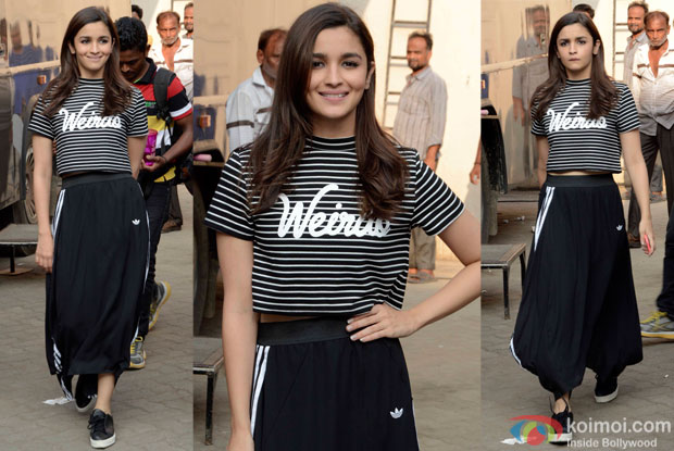 Alia Bhatt Spotted at mehboob studio