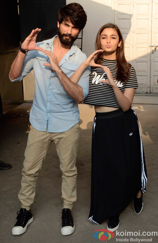Shahid Kapoor and Alia Bhatt Spotted at mehboob studio