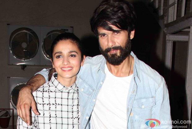 Shahid Kapoor and Alia Bhatt Spotted at mehboob studio