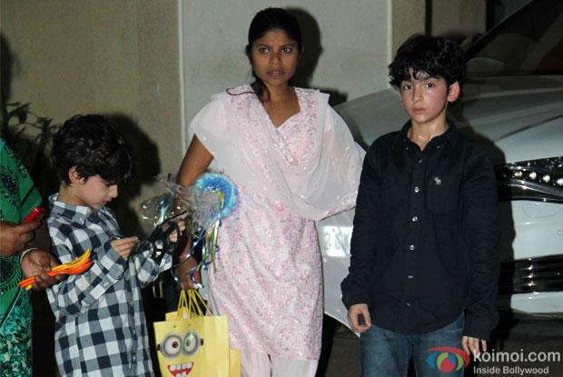 Hrehaan Roshan and Hridhaan Roshan at Iqra - Shahraan's birthday bash