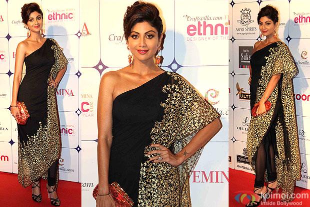 Shilpa Shetty during the Craftsvilla Femina Ethnic Designer of the year event