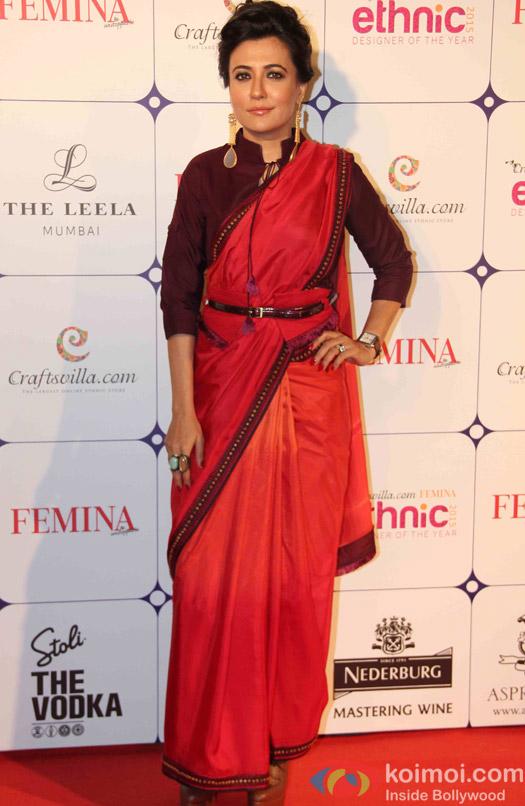 Mini Mathur during the Craftsvilla Femina Ethnic Designer of the year event
