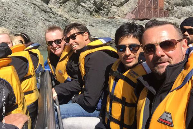 Sidharth Malhotra Goes Jetboating With Fleming, Doull, Styris