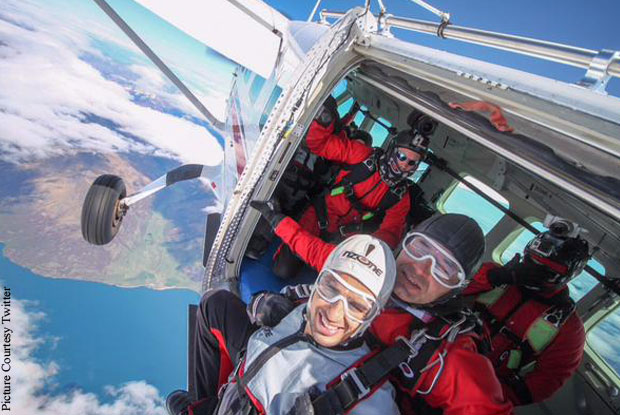 Sidharth Malhotra's first ever experience of a daring skydive