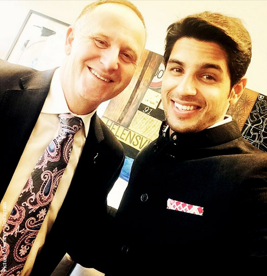 Sidharth Malhotra's Rendezvous With New Zealand's PM