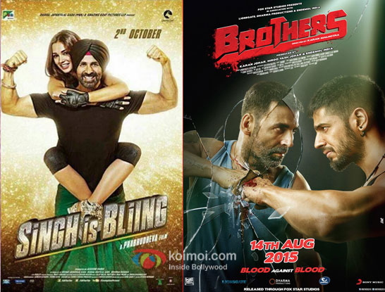 Singh Is Bliing and Brothers movie posters