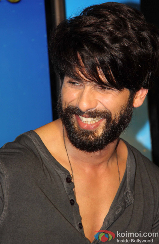 Shahid kapoor during the song launch of movie Shaandaar
