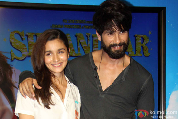 Alia Bhatt and Shahid Kapoor during the song launch of movie Shaandaar
