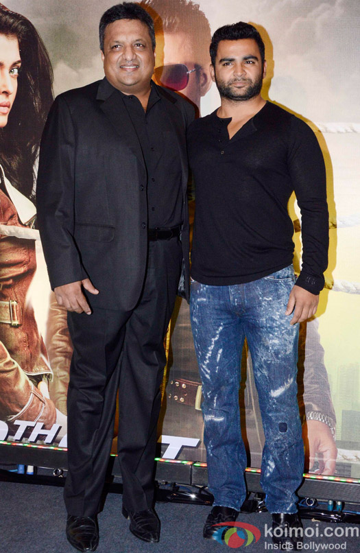 Sanjay Gupta and Sachin Joshi during the Special Screening of movie Jazbaa