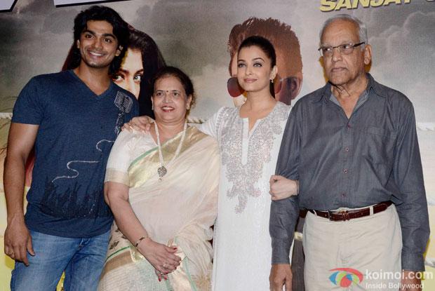 Aditya Rai, Brindya Rai, Aishwarya Rai Bachchan and Krishnaraj Rai during the Special Screening of movie Jazbaa