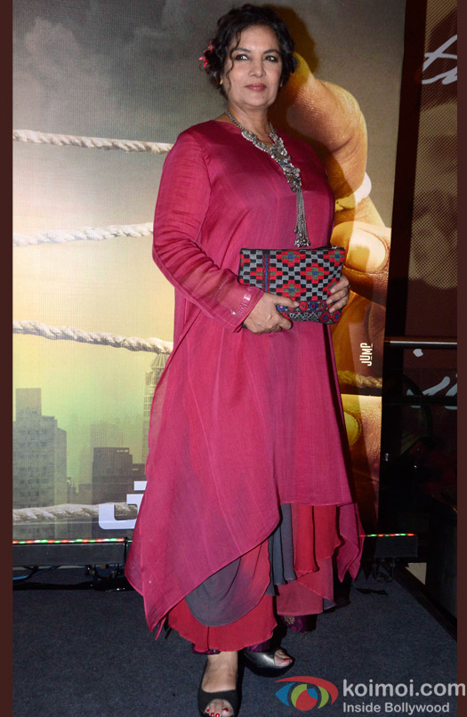 Shabana Azmi during the Special Screening of movie Jazbaa