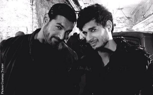 John Abraham and Tahir Bhasin Clicked On The Sets Of 'Force 2'
