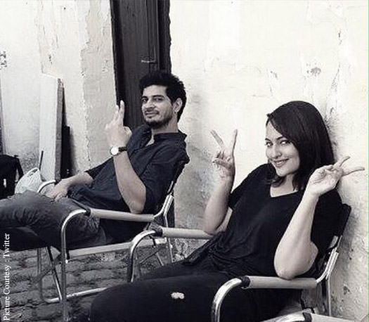 Tahir Bhasin and Sonakshi Sinha Clicked On The Sets Of 'Force 2'