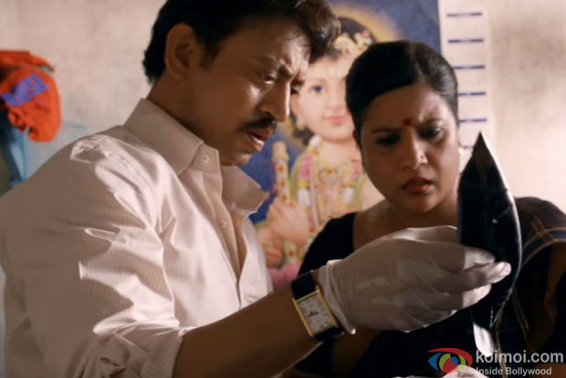 Irrfan Khan in a still from movie 'Talvar'