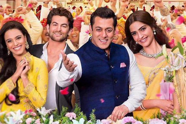 Swara Bhaskar, Neil Nitin Mukesh, Salman Khan and Sonam Kapoor in still from movie Prem Ratan Dhan Payo