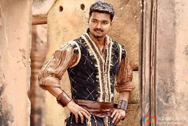 Vijay in a still from movie 'Puli'