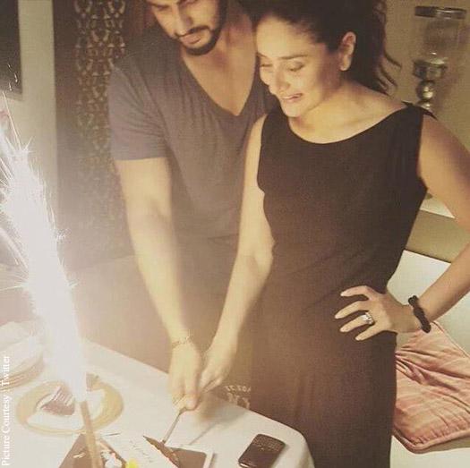 Arjun Kapoor and Kareena Kapoor Khanin wrap up party of 'Ki and Ka'