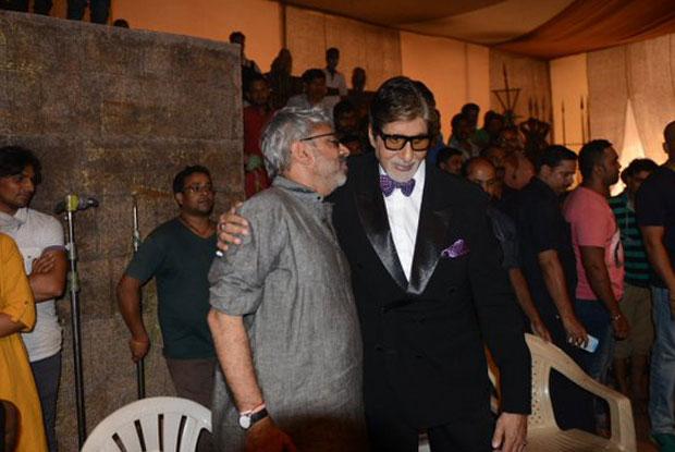 Sanjay Leela Bansali and Amitabh Bachchan on the sets of Bajirao Mastani