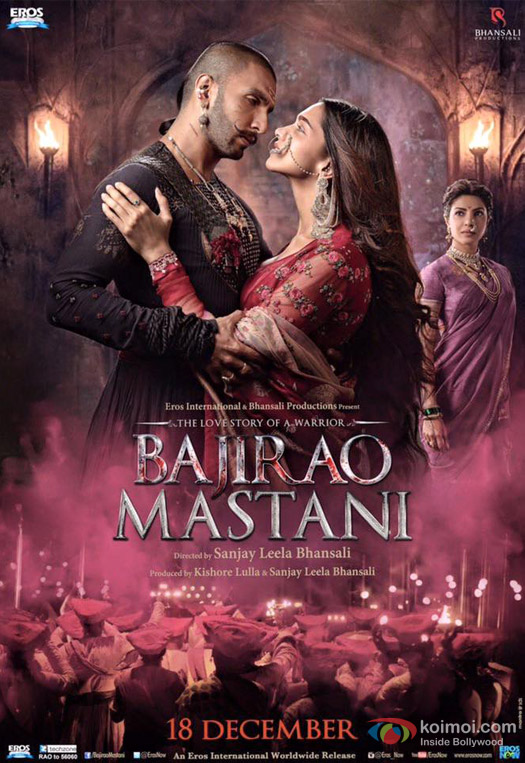 Ranveer Singh, Deepika Padukone and Priyanka Chopra in a 'Bajirao Mastani' Movie Poster 4