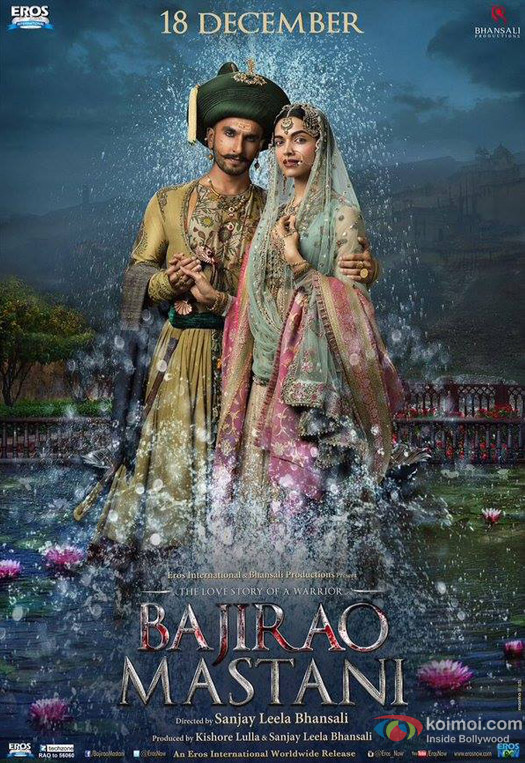 Ranveer Singh and Deepika Padukone in a 'Bajirao Mastani' Movie Poster 5